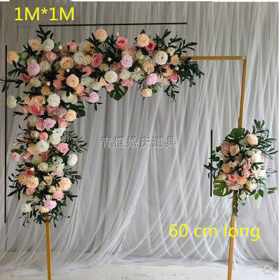 Wedding Simulation Corner Flower Background Wall Fake Flower Flower Art Wedding Props Rose Decoration Silk Flower Wall