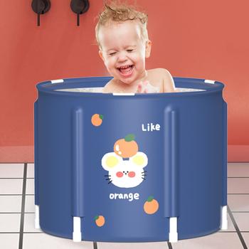 Przenośna wanna składane dziecko dziecko nie nadmuchiwane wanny wygodne gospodarstwa domowego wanna brodzik dziecko moczenie wanny dla dzieci tanie i dobre opinie CN (pochodzenie) Tkaniny Cartoon Folding Bathtub