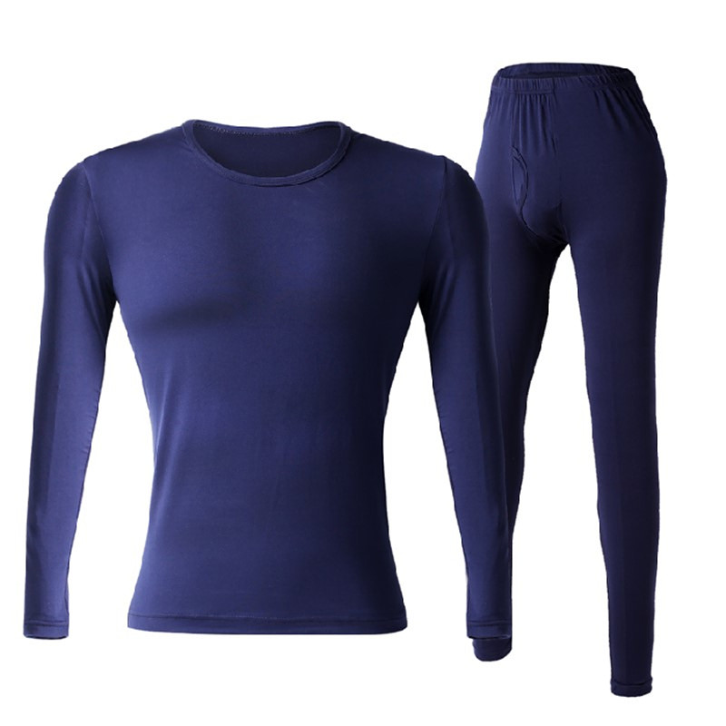 Winter Thermal Underwear Men's Quick-drying Anti-microbial Stretch Warm Pajamas Set Men's Warm Trousers