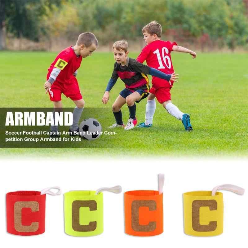 Braçadeira durável multi-função delicada textura crianças ajustável futebol capitão braço banda líder concorrência braçadeira