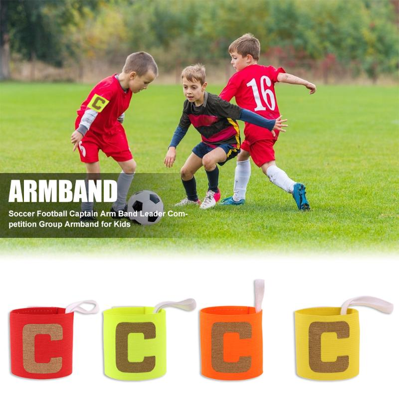Durable Armband Multi-function Delicate Texture Kids Adjustable Soccer Football Captain Arm Band Leader Competition Armband