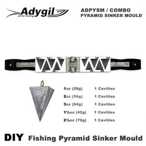Форма для ловли рыбы adyil, 1 унции, 2 унции, 3 унции, 1,5 унции, 2,5 унции, 5 полостей