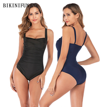 New Sexy Ruffled Swimsuit Women One Piece Suit Solid Color Bathing Suit S-XL Girl Backless Padded Swimwear Tummy Cover Monokini new arrival sport swimwear one piece swimsuit women padded monokini sexy backless bodysuits swimming bathing suit size s m l xl