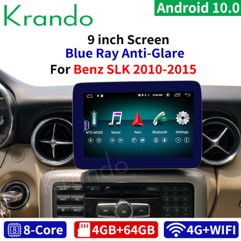 Krando Android 10 9 inch 8 Core 4+64G Car radio navigation multimedia player for Mercedes Benz SLK 2011-2015 with WIFI Car GPS image