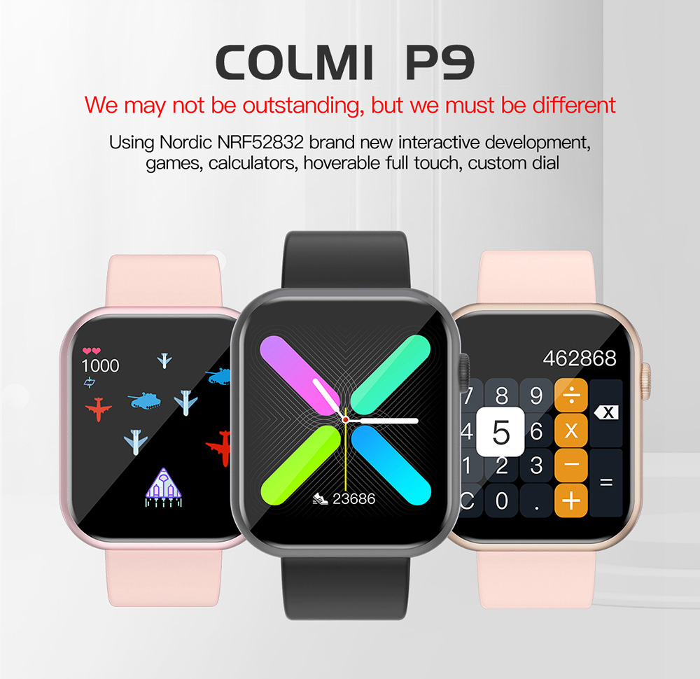 COLMI P9 Unisex Smart Watch IP67 Waterproof for iOS Android Phones 1