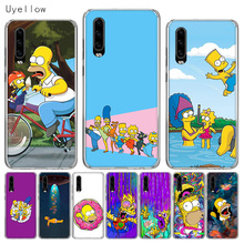 Uyellow Silicone Phone Case For Huawei P10 P20 P30 Lite Pro Hawei Mate 10 20 lite Huwei P Smart 2019 Homer Draw Simpson Cover