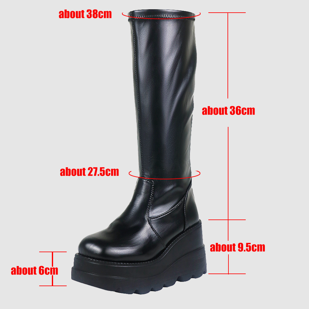 moda impressão zip cunhas salto alto botas
