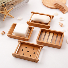 Soap-Dishes Bamboo Kitchen Drain Bathroom Acceessories Creative Japanese-Style Portable