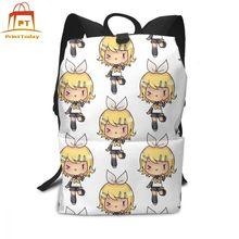 Vocaloid Backpack Rin Backpacks High quality Man - Woman Bag Multi Pocket Shopper Print Trend Teenage Bags