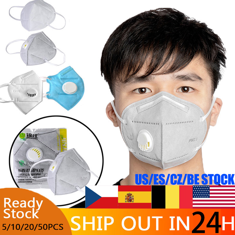 20 Pcs KN95 Masks Anti Pollution Dust Respirator Washable Reusable Masks Unisex Mouth Muffle Allergy Same As KF94 FFP3 FFP2