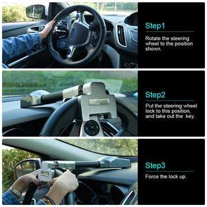 Image 4 - Mikro titreşim kontrol Buzzer Alarm sesi araba Van direksiyon kilidi güvenlik kelepçesi Anti hırsızlık güvenlik ağır hizmet tipi