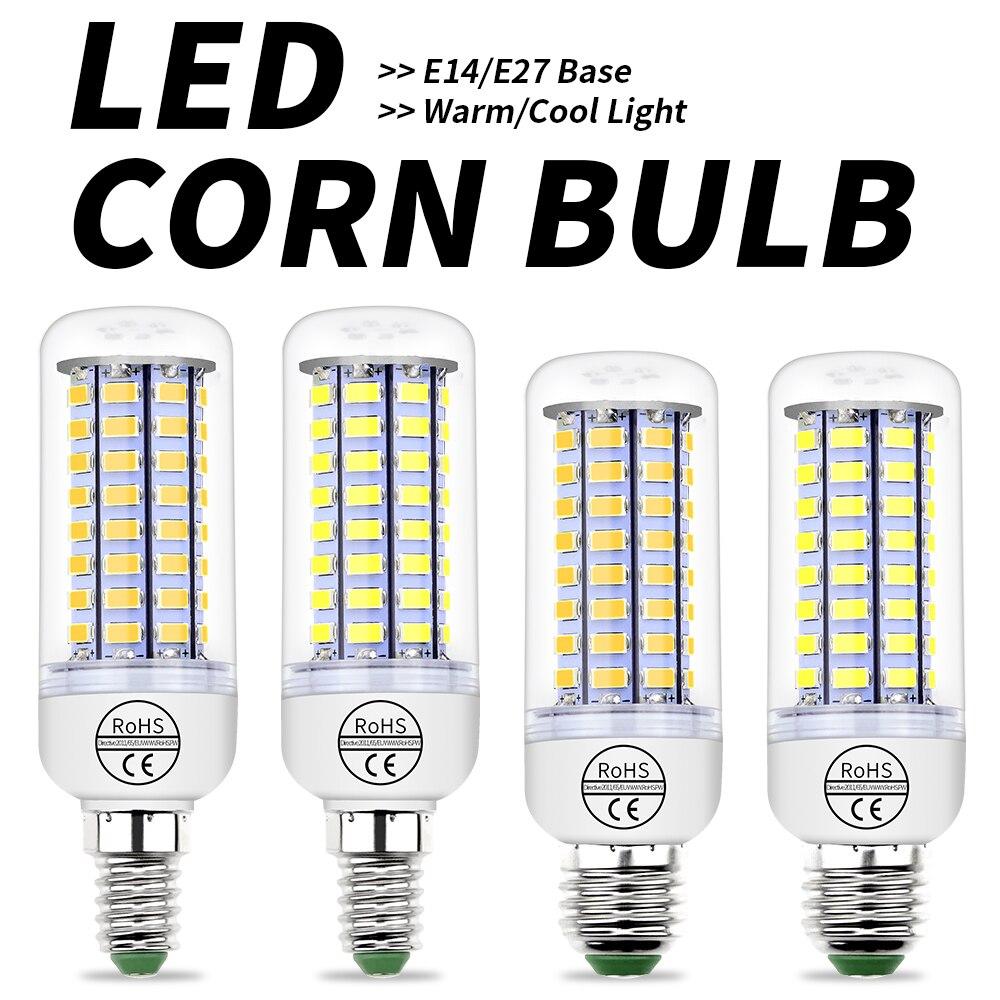 WENNI 8PCS E27 LED Bulb 220V LED Lamp E14 Candle Light GU10 Lampada G9 Corn Bulb 24 36 48 56 69 72leds Light B22 Indoor Lighting