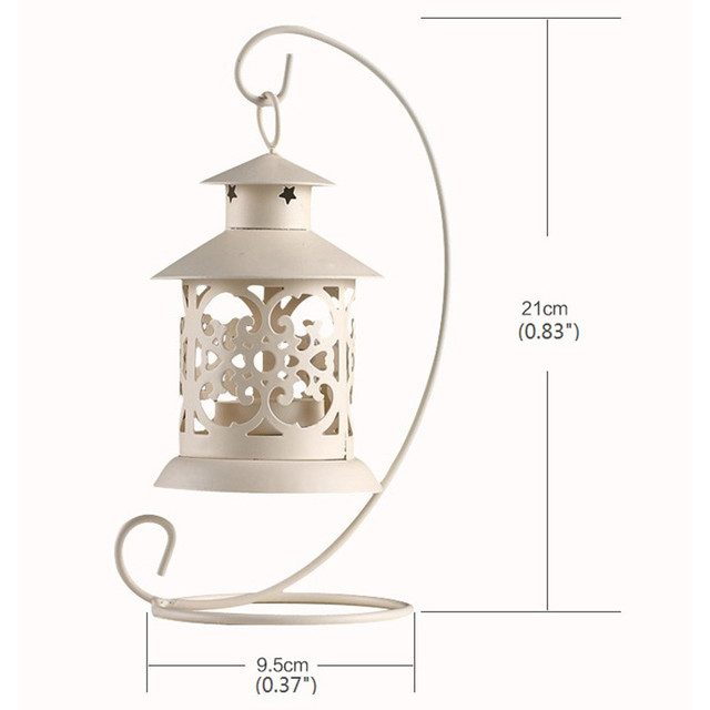 European Vintage Metal Birdcage Lantern Candle Holder Garden Night Outdoor Tea Light Wedding Home Table Decoration Holder 3