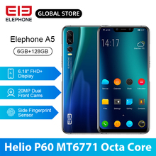 ELEPHONE A5 P60 MT6771 Octa Core Smartphone 6GB 128GB 6.18 Inch FHD+ U-Notch Screen 20MP Front Cam 4