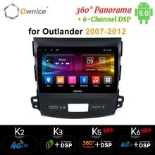 Ownice DSP Android 9,0, reproductor de Radio GPS para coche Navi para Mitsubishi Outlander 2007 K3 K5 K6 4G Octa Core Radio 360 panorámica óptico