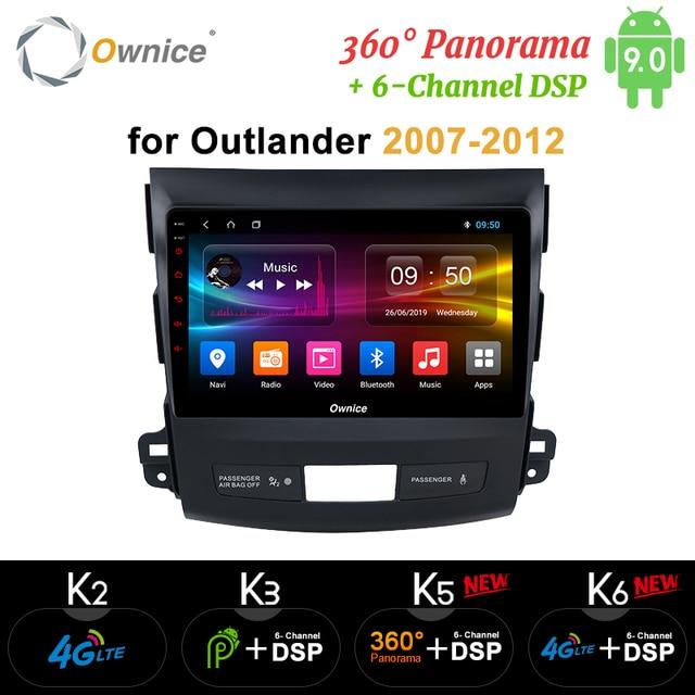 Ownice Dsp Android 9.0 Auto Radio Gps Speler Navi Voor Mitsubishi Outlander 2007 K3 K5 K6 4G Octa Core radio 360 Panorama Optische