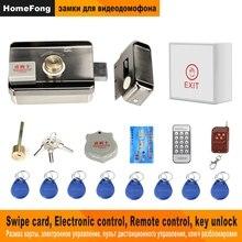Homefong cerradura electrónica de puerta para Video, intercomunicador Video de la puerta teléfono con cable remoto abre con tarjeta inteligente casa Kit de sistema de seguridad