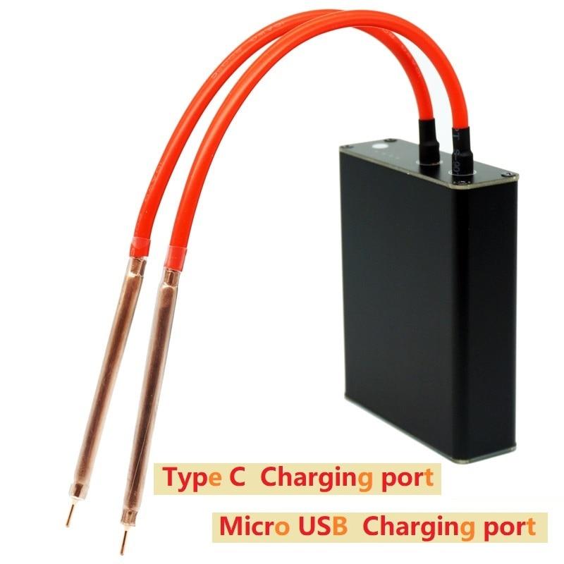 Portable Spot Welding Machine Diy Full Set 18650 Lithium Battery Nickel Belt Spot Welding Mini Small Household Fiber