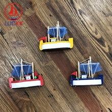 LUCKK 8-15CM Mediterranean Style Wooden Sea Sailing Model With Net Handmade 3 Color Kids Birthday Christmas Gifts Free Shipping подсак snowbee wooden sea trout net