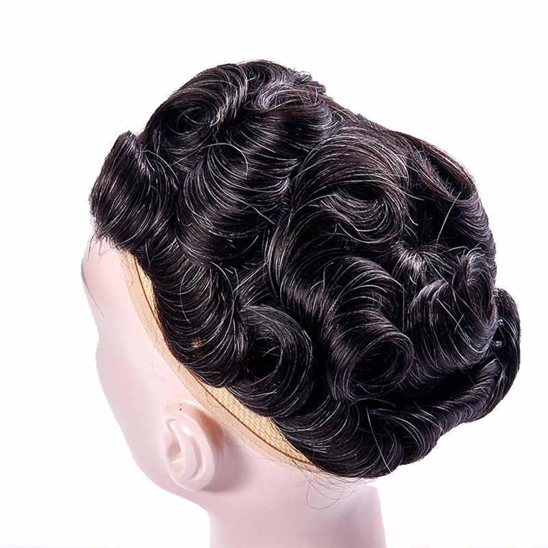 AddBeauty Швейцарский парик из кружева и ПУ сменный мужской парик ручной работы из натуральных индийских человеческих волос Remy 6 дюймов