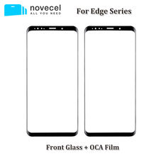 2 in 1 A+ Front Glass Lens with OCA Assembly For Samsung Galaxy S7 edge S8 S9 + Note 8 9 Cracked Touch Glass Replacement(China)