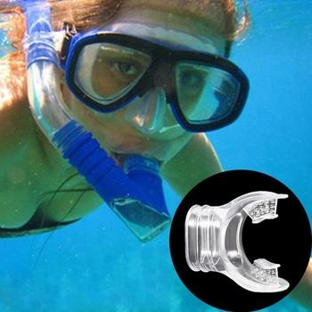 Nurkowanie ustnik miękki silikon podwodne nurkowanie z rurką rurka do oddychania ustnik Regulator akcesoria tanie i dobre opinie CN (pochodzenie) 7HH403143