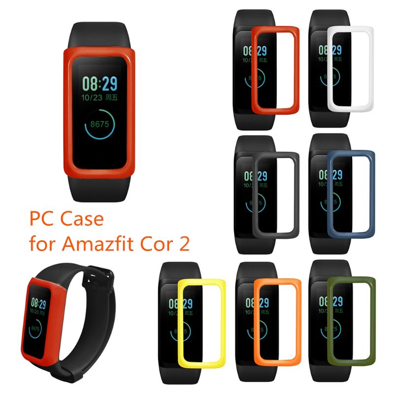 Colorful PC Smart Watch Case Protective Cover Shell for <font><b>Huami</b></font> <font><b>AMAZFIT</b></font> <font><b>COR</b></font> <font><b>2</b></font> Protector T4MD image