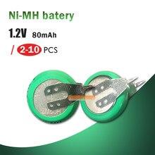 Batteries rechargeables Ni-MH Ni MH, 1.2V, avec broches à souder, pour jouets électriques, 2 à 10 pièces