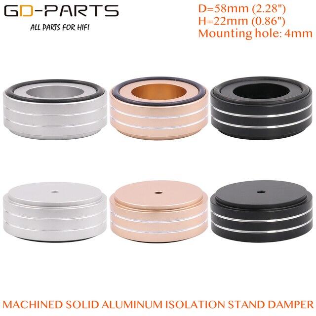 58x22mm Solid Volledige Aluminium Speaker AMP Turntable Recorder Isolatie Voet Spike Floor Base Pad Chassis Voeten Stand kegel Hifi DIY