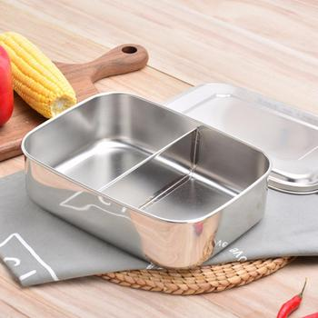 Fiambrera-caja de pan de acero inoxidable BPA, separación flexible, caja metálica para...