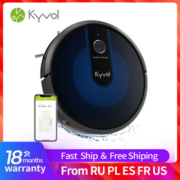 Kyvol Cybovac E31 Robot Vacuum, Sweeping & Mopping Robot Vacuum Cleaner with 2200Pa Suction, Smart Navigation, 150 mins Runtime, pakwang 2018 robot vacuum cleaner sweeping mopping with camera wi fi control night surveillance video call 7000mah battery