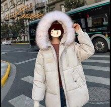 Xnxee 2019 winter new Korean version of hooded ladies loose down cotton women