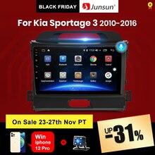 Junsun V1 4G + 64G CarPlay אנדרואיד 10 DSP עבור Kia Sportage 3 2010 2011 2012 2013   2015 2016 רכב רדיו מולטימדיה וידאו נגן DVD