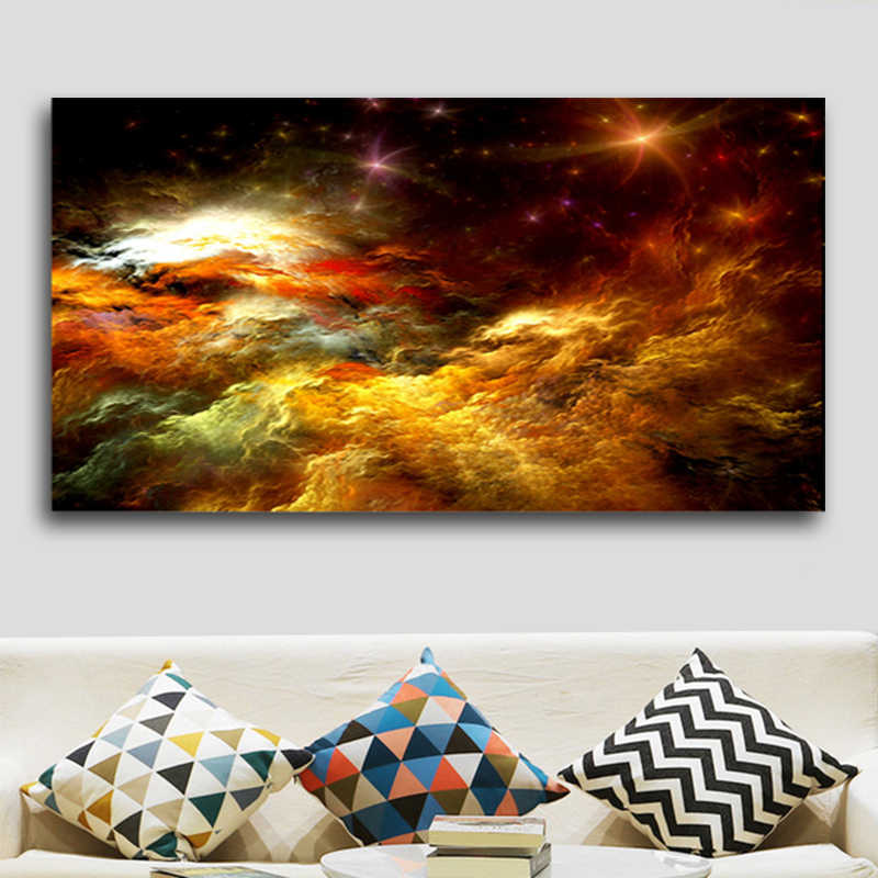 SELFLESSLY Wall Art Abstract Colorful Clouds Canvas Painting For Living Room Modern Art Prints Poster Decorative Pictures