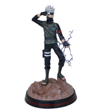 model fans inflames toys naruto 30cm height 1 6 hatake kakashi contain two head action figure toy for collection 28CM Naruto Anime Hatake Kakashi Figure PVC Action Figure Anime Hatake Kakashi Figure  Toys Collectible Gift