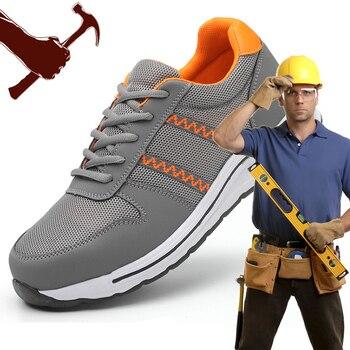 Men Anti-smashing Construction Sneaker