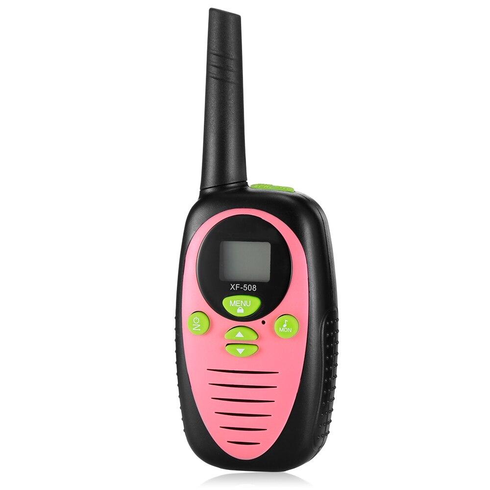 2pcs Mini Walkie Talkie Kids Children Radio Licence-Free 2 Way Radio XF - 508 Children Walkie Talkies 8 Channels 3KM Range Belt