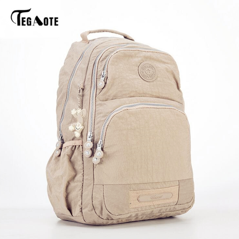 TEGAOTE 2019 Women Backpack For Teenage Girls Kipled Nylon Backpacks Mochila Feminina Female Travel Bagpack Schoolbag Women Bag