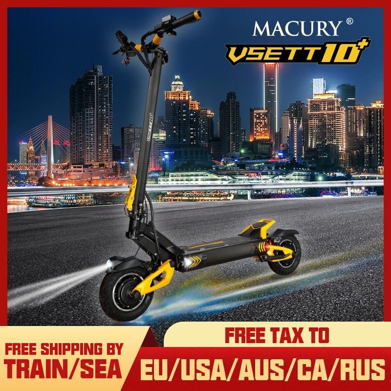VSETT 10 + 10 дюймов внедорожный электрический скутер VSETT10 + Модернизированный ZERO 10X Ховерборд двойной привод 60В 2800 Вт двойной двигатель VSSET MACURY