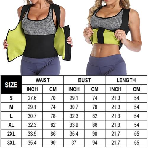 Sweat Waist Trainer Corset Slimming Vest Neoprene Body Shaper Cincher Workout Tank Tops Weight Loss Sauna Vest Belt Fat Burner 1