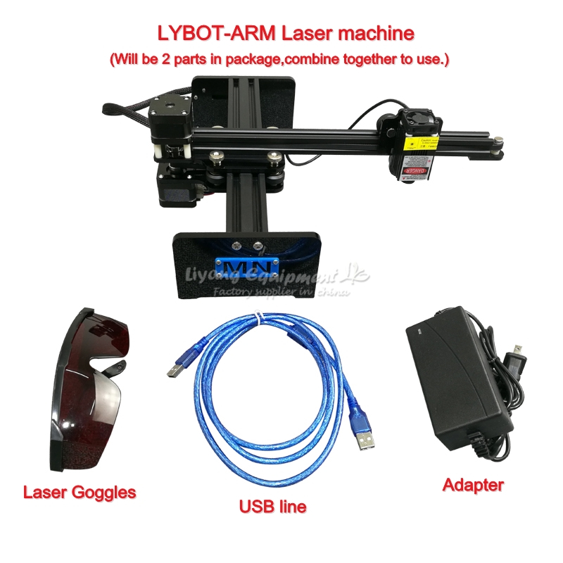 Diy ly drawbot arm robot writting <font><b>cnc</b></font> laser engraving marking machine <font><b>2417</b></font> desktop 500mw 1000mw 2.5W 5.5W 10W with rotary axis image