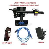 Diy ly drawbot robot de brazo escribiendo cnc máquina de grabado láser máquina de marcado 2417 escritorio 500mw 1000mw 2 5 W 5 5 W 10W con eje giratorio