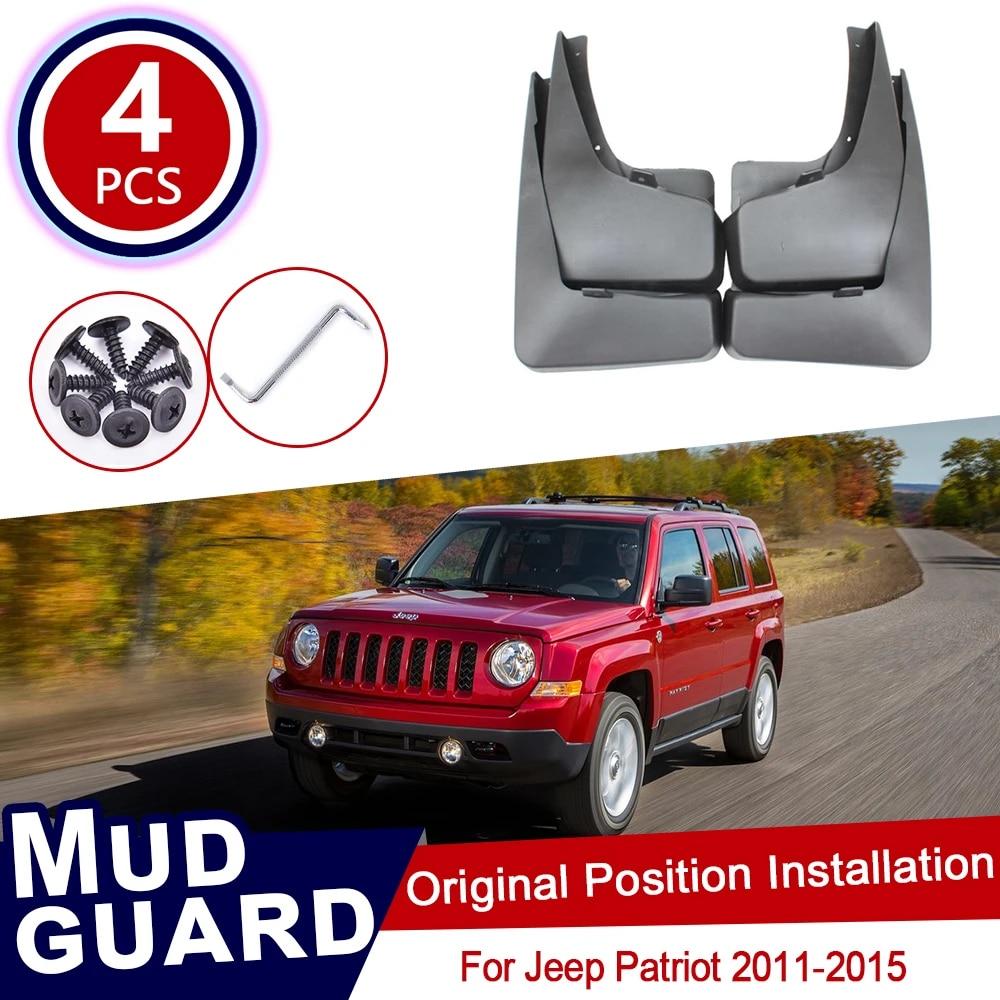 4Pcs Car Mud Flaps Splash Guard Protective Fender Mudguard Mudflaps Mud Guards for Jeep Patriot 2011 2012 2013 2014 2015 2016 2017 2018 2019