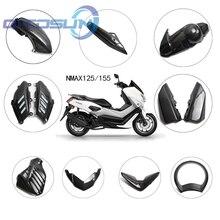 Para yamaha nmax155 n max 155 2016   2019 kits carenagem completa de plástico escudo da motocicleta padrão de fibra de carbono capa decorativa