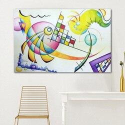 Wassily Kandinsky martwa natura sztuka abstrakcyjna obraz olejny Spray Unframed obraz na płótnie obrazy na ścianę do salonu bez ramki