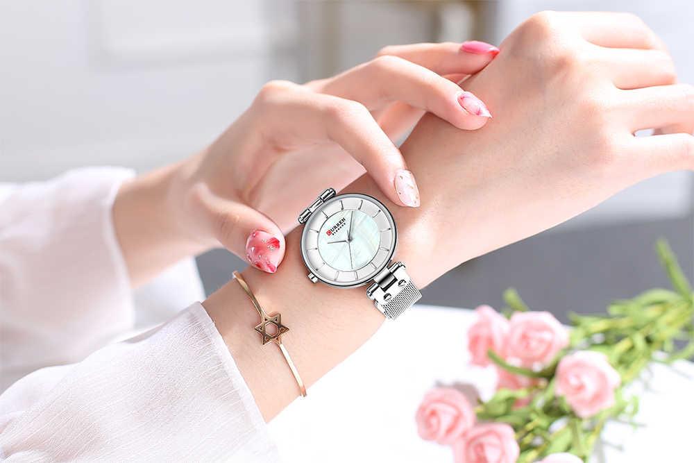 CURREN Uhr Frauen Luxus Marke Damen Kleid Quarz Armbanduhr Leder Wasserdichte Weibliche Uhren Mädchen Uhr Relogio Feminino