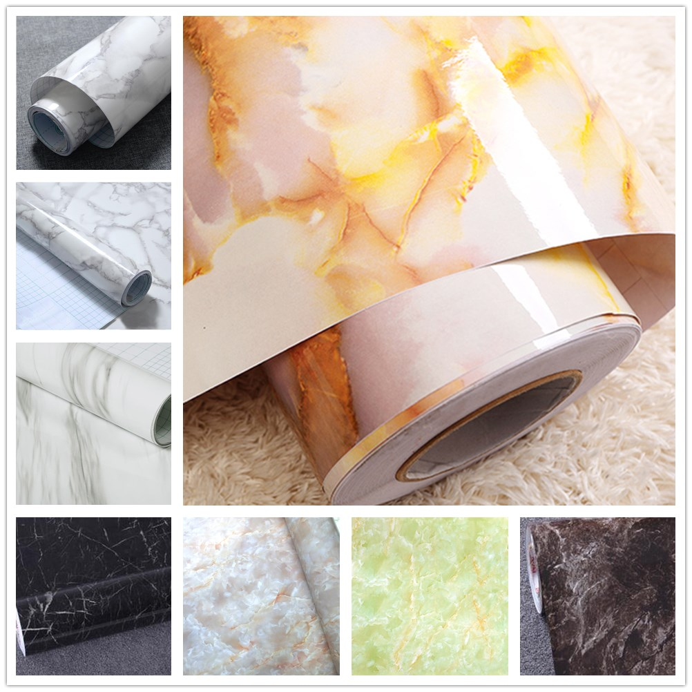 DIY Granite Marble Effect Wall Paper Self Adhesive Peel Stick Rolling Waterproof Wall Paper