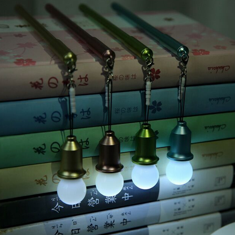 Novelty Pen Light Cute Imitation Metal Simple Modern Night Reading Studying Pure Color High Quality Creative Child Gifts Bulbs