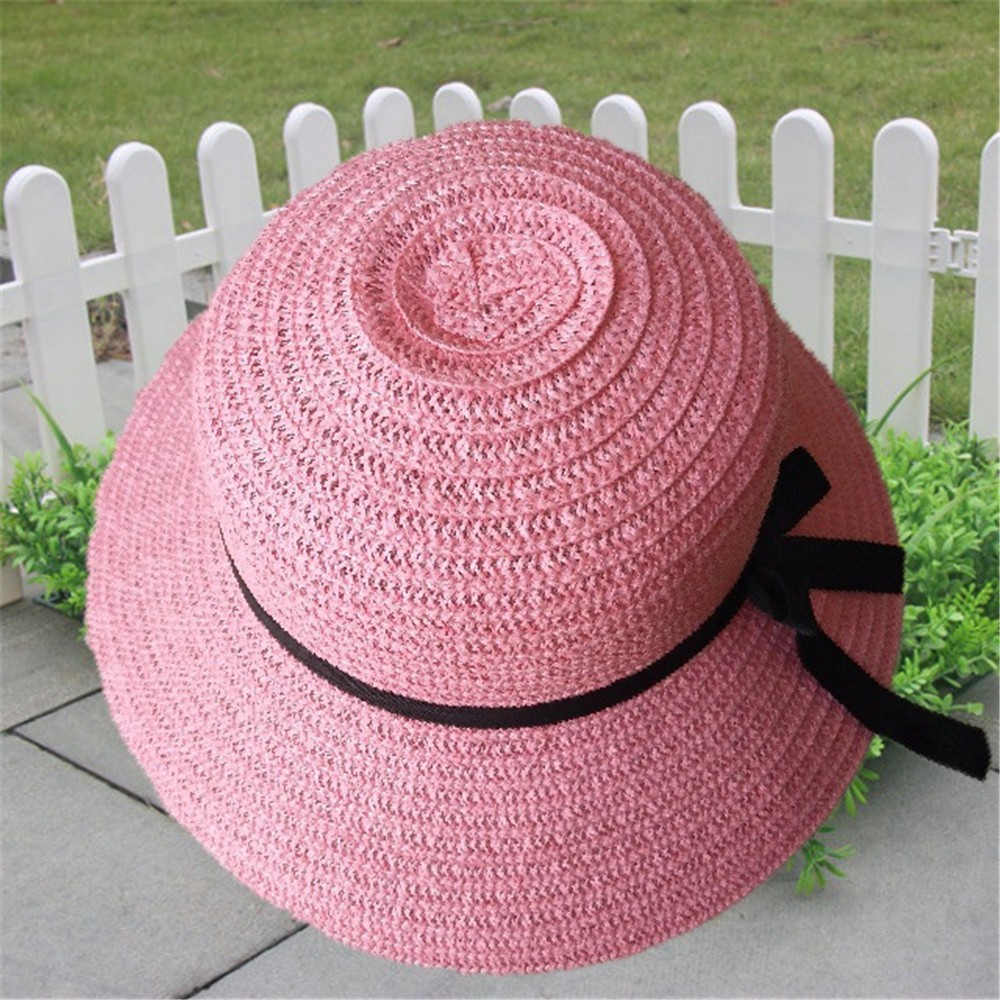 Sun Hats For Women 2019 Fashion Simple Elegant Summer Hat Wide Brim Bow Decoration Straw Hat Outdoor Vacation Travel Beach Hat