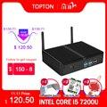 Мини-ПК без вентилятора, настольный Barebone-компьютер, Linux HTPC, Intel i5 7200U, i3 7167U, Windows 10, VGA, HDMI, Wi-Fi, 6 портов USB